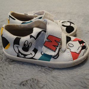 ZARA Kids Toddler Sneakers Canvas Mickey Mouse Dis